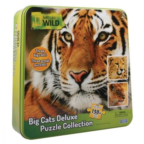 Пазл 3 в одном: гепард, тигр и лев, 150 элементов 16445