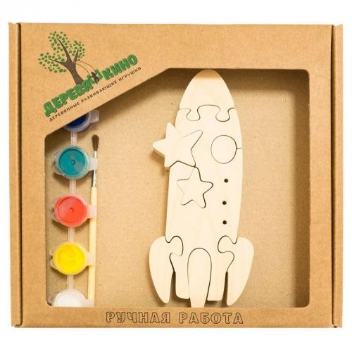 Развивающая игрушка Ракета с красками 702