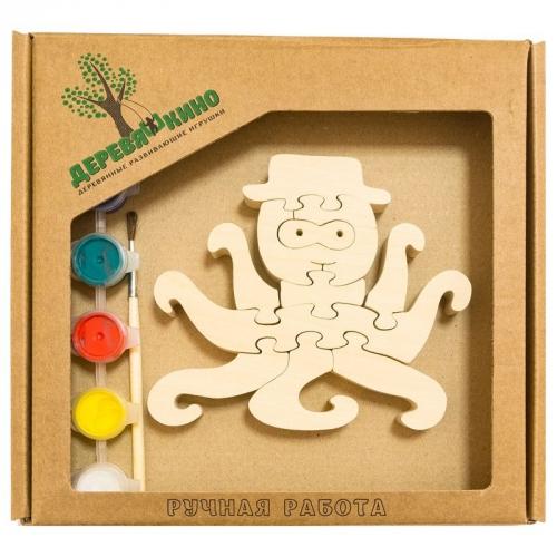Развивающая игрушка Осьминог с красками 669