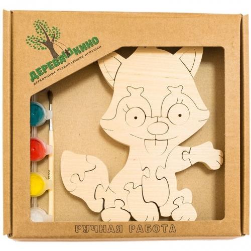 Развивающая игрушка Лисенок с красками 721