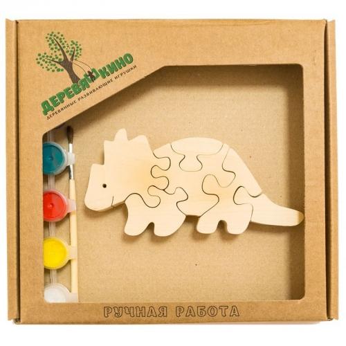 Развивающая игрушка Бронтозавр 2 с красками 675
