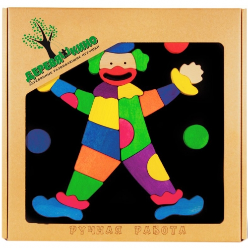 Головоломка на магнитной доске Клоун 107