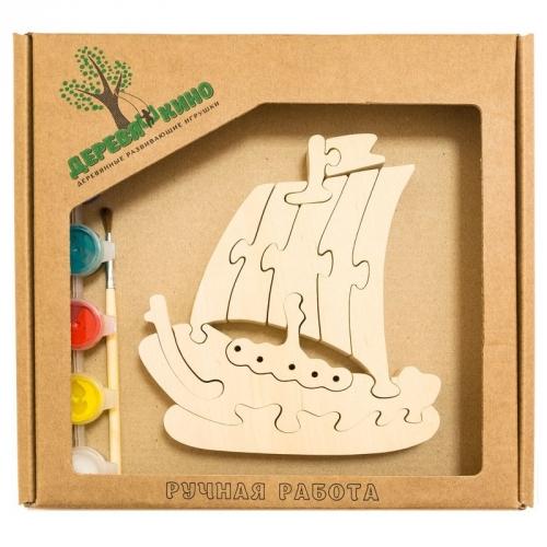 Развивающая игрушка Кораблик с красками 658
