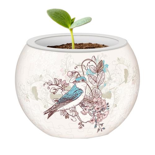 3D-пазл Цветочный горшок. Певчие птицы k1006