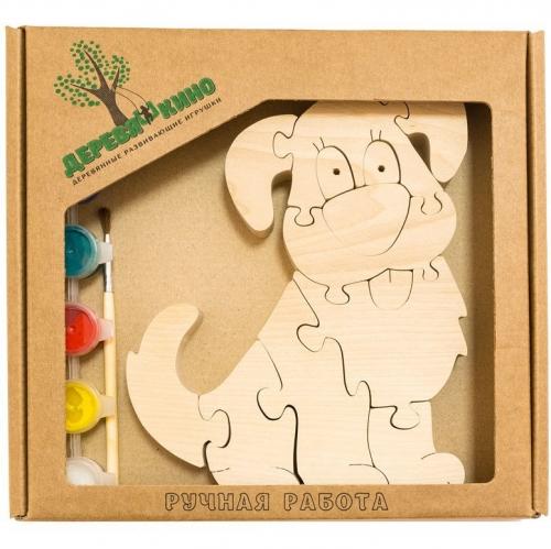 Развивающая игрушка Собачка 1 с красками 746