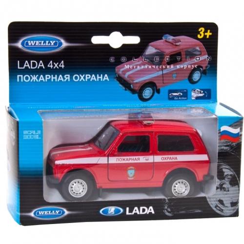 Коллекционная модель машины Lada 4x4. Пожарная охрана 1:34-39 42386FS
