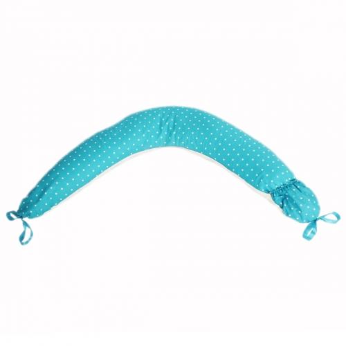 Подушка для беременных Премиум, наполнитель холлофайбер/полистирол, голубая ART0131