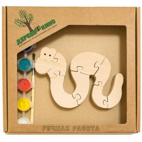 Развивающая игрушка Змейка с красками 770