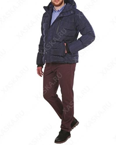 Куртка пуховая короткая 17707 Navy