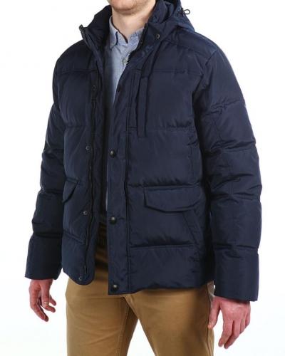 Куртка пуховая средней длины 16615 Navy