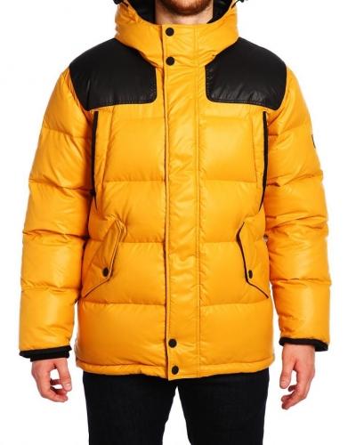 Куртка пуховая удлиненная 16505 Yellow