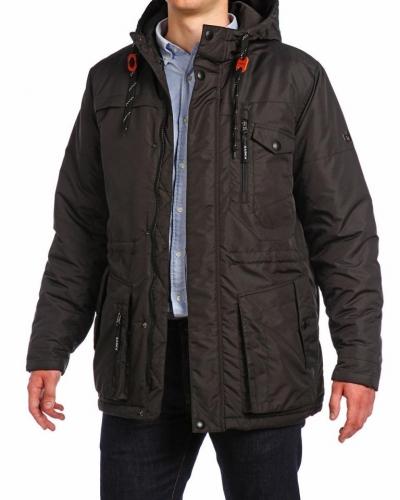 Куртка средней длины на утеплителе 15510 Black