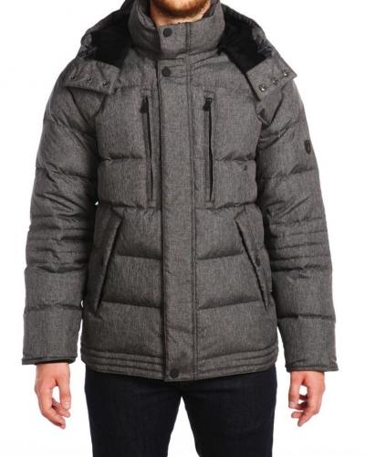 Куртка пуховая средней длины 15503 Pepper