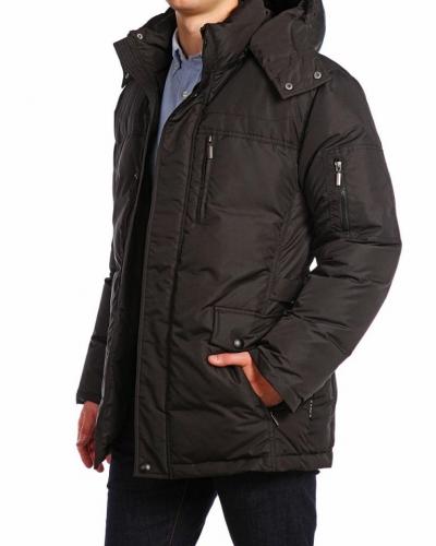 Куртка пуховая удлиненная 15208 Black