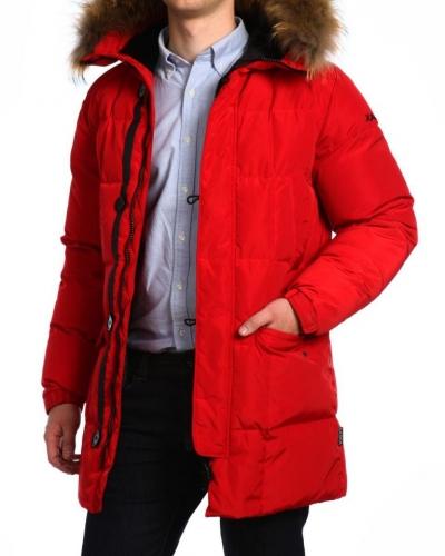 Куртка пуховая удлиненная 17414 Red