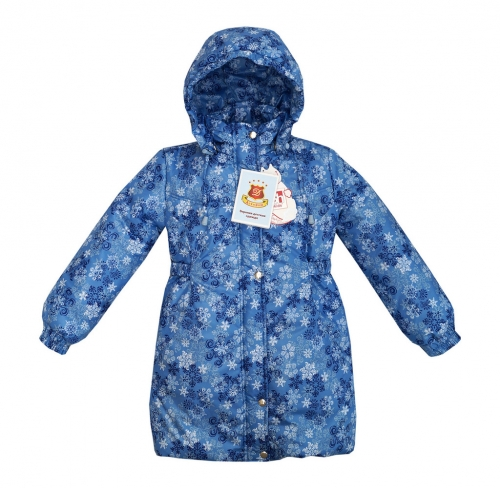 Пандора принт снежинки голубой