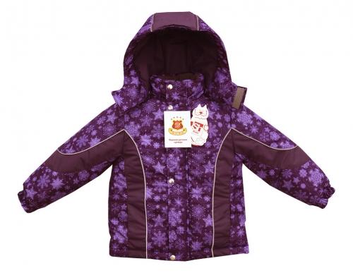 Куртка Галактика принт снежинки фиолетовый