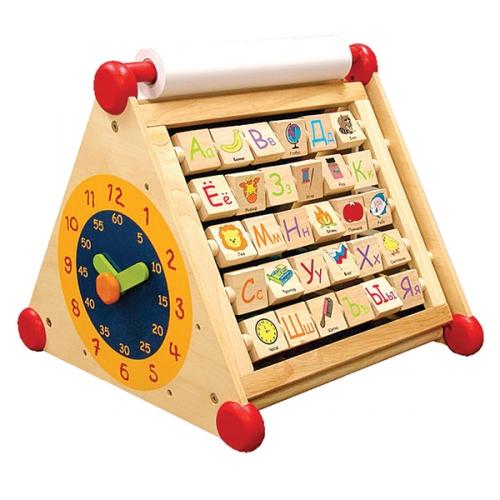 Развивающий центр 7 в 1 (алфавит, часы, доски для рисования, логические сортеры, счёты), шт