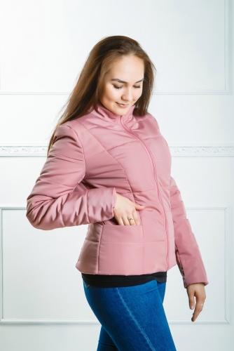 Куртка женская утепленная синтепоном арт. KG-001 цвет- пудра
