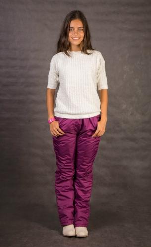 Женские утепленные брюки Арт.002 брусничный