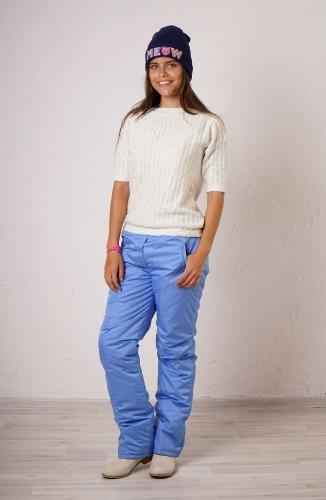 Женские утепленные брюки Арт.002 голубой
