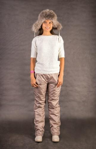 Женские утепленные брюки Арт.002 капучино
