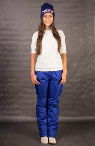 Женские брюкипояс на резинкеАрт.002 синий