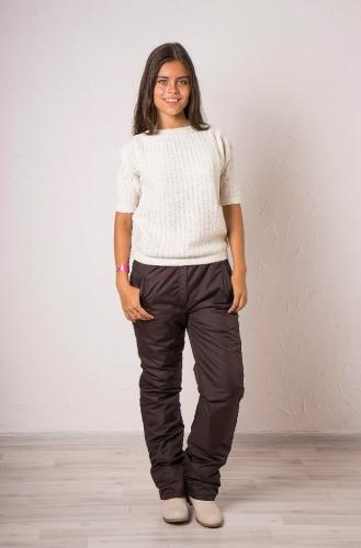 Женские утепленные брюки Арт.002 шоколад