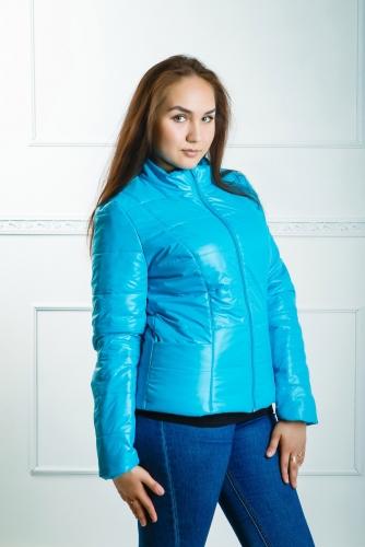 Куртка женская утепленная синтепоном арт. KG-001 цвет- бирюза