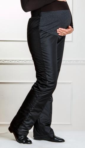 Утепленные женские брюки для беременных на утеплителе -флис Арт. 009Ф