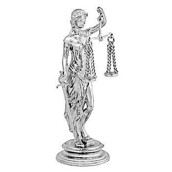 Статуэтка Фемиды из серебра